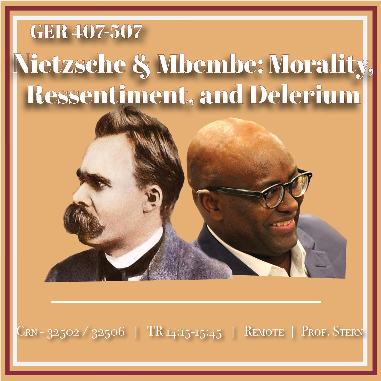 Photo of Friedrich Nietzche and Achille Mmembe