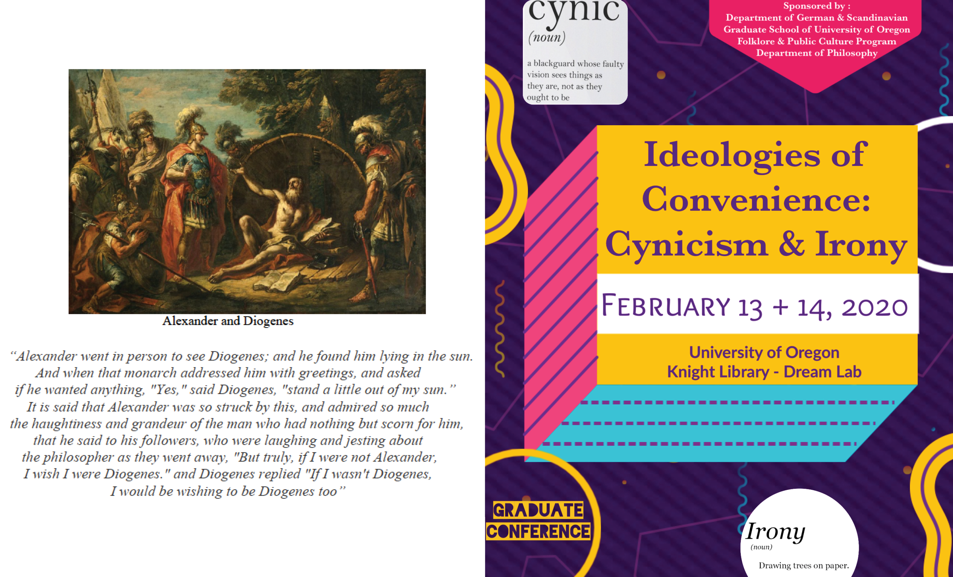 Graduate Conference Flyer Feb 13th and 4th Cynicism