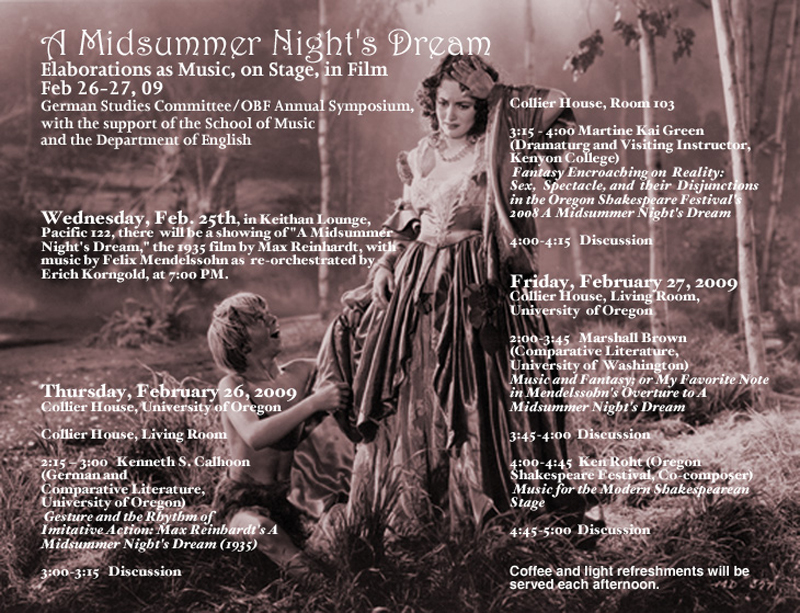 A Midsummer Night's Dream Conference 2009