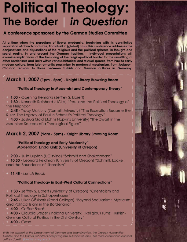 Political Theology: The Border | in Question Conference 2007