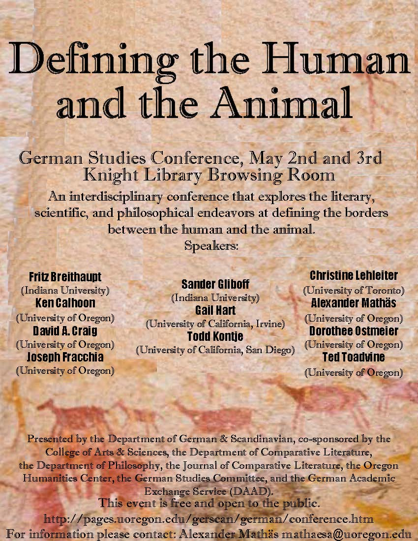 Defining the Human and the Animal Conference 2013
