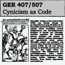 GER 407/507 Cynicism as Code