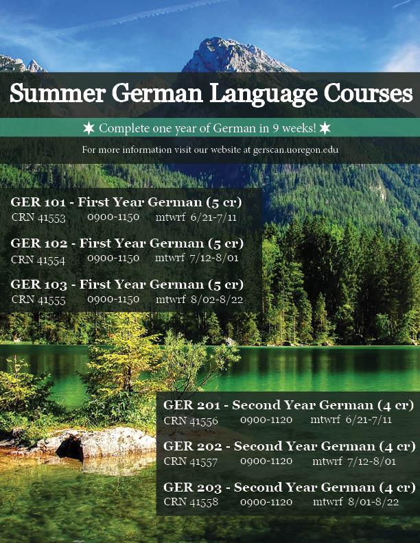 german summer classes flyer